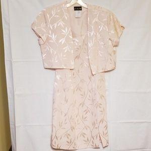 2 peice formal PK Klein pale pink dress & jacket
